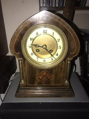 Antique Mantle  Clock By S Marti Medaille D'argent 1889 .In Good Working Order