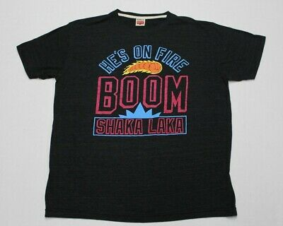 d497ae996d5 VTG HOMAGE HE'S On Fire Boom Shaka Laka NBA Jam Throwback T-Shirt ...
