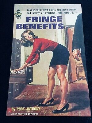 FRINGE BENEFITS vintage pulp sleaze paperback cover art 11x17 poster STOCKINGS