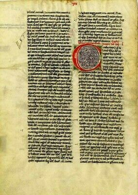 Vulgate Bible Circa 1150.COLLECTION OF 2 Manuscript High Quality RE-PRODUCTION