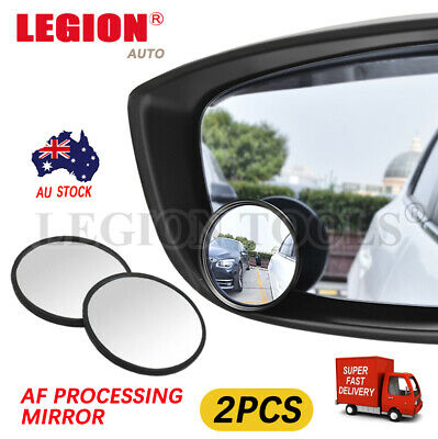 "2pcs Blind Spot Mirror Car Rear Side View Convex Wide Angle round glass 2"" 50mm"