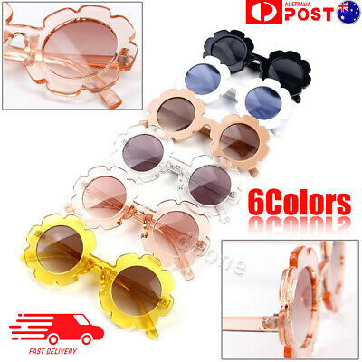 Fashion Girls Baby Retro Flower Kids Sunglasses Anti UV Children Sunglasses NEW