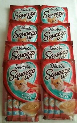 delectables squeeze up with tuna cat food(8packs)exp. on 07/23/2020