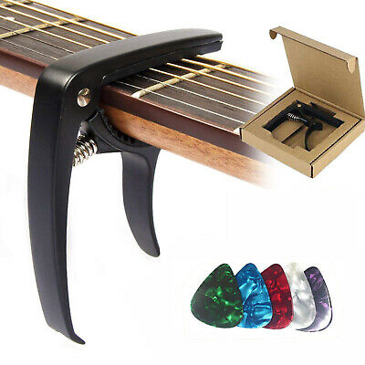 Premium Guitar For Acoustic electric Classical Guitars Banjo Capo Trigger Clamp