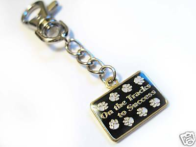 Dog Paws Charm Keyring On The Tracks To Success Tag