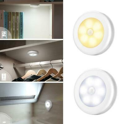 Motion Sensor Activated Night Light 6-LED Closet Corridor Cabinet Induction Lamp