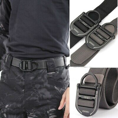 Tactical Belt Adjustable Heavy Duty Military Waist Belts Metal Buckle Nylon New