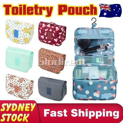 Cosmetic Makeup Pouch Bag Travel Organizer Storage Case Hanging Wash Bathroom AU
