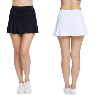 Women Girls Pleated Skirt School Sport Golf  Tennis Short Skirt with Underwear