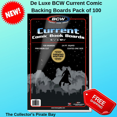 100 BCW Current Modern Collection Comic Book Storage Acid Free Backing Boards