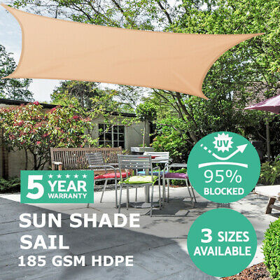 MOVTOTOP Sun Shade Sail Garden Patio Sunscreen Awning Canopy Screen Large UV