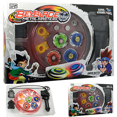 Fusion Rare Beyblade Set Metal Fight Master 4D Top Rapidity Launcher Grip Toy AU
