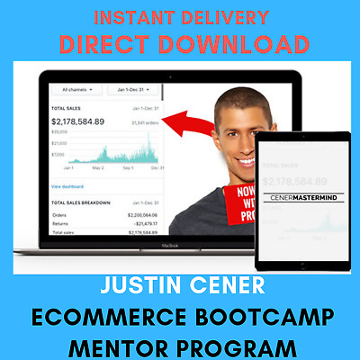 Justin Cener – eCommerce Bootcamp Mentor Program | 26.14 GB | Instant DELIVERY