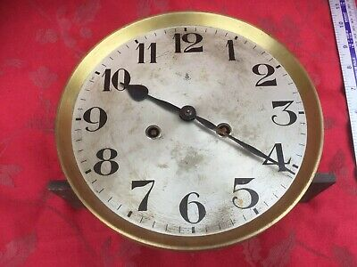 Gustav Becker Striking Wall Clock Movement With Dial Hands For Spares Or Repair