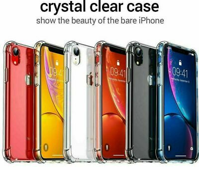 Clear Case For iPhone 6,7,8, Plus, X, XS Max, XR Shockproof Silicone Protective