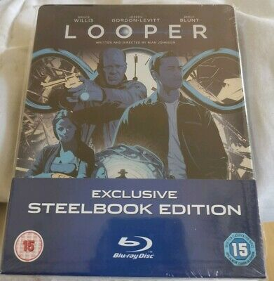 Looper UK Exclusive Steelbook Blu-Ray New/Sealed