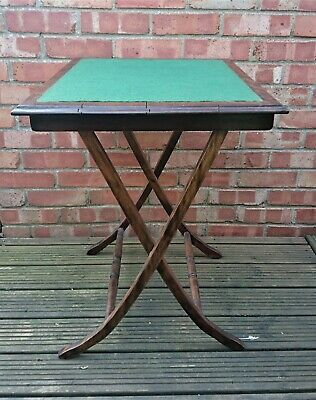 Attractive Edwardian Folding Card Table in Excellent Original Condition