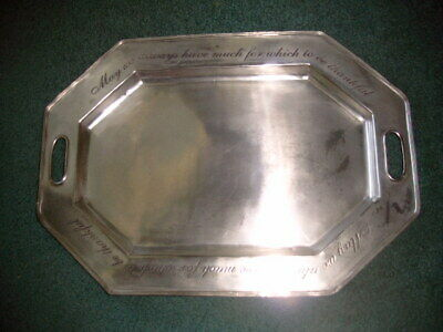 """MUD PIE Octagonal Service Platter #113546 made in India ~20"""" x 14"""""""