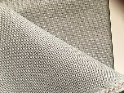 Pearl Grey 32 Count Zweigart Murano even weave fabric - various size options