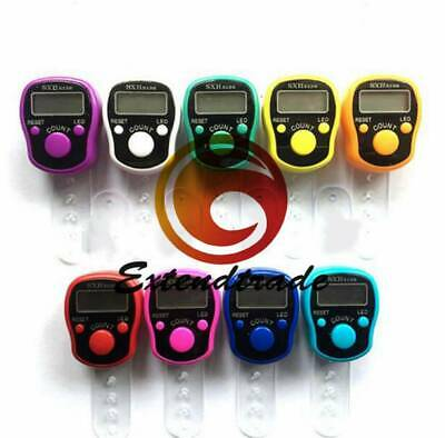 5 digits LED Tally Counter Finger Ring Hand Tally Counter Digital Timers WS