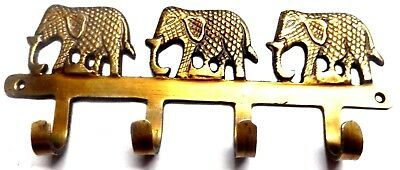 Elephant Shape Vintage Antique Style Handmade Brass Wall Hanger Wall Decor Hook