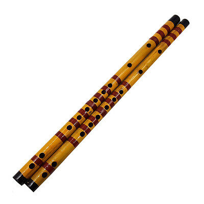 Traditional Long Bamboo Flute Clarinet Student Musical Instrument 7 Hole 425mmTS