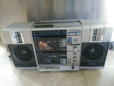 Vintage Emerson CTR 949 Boombox Double Cassette Player Dubbing Boom box