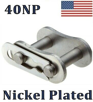QTY 300 #40NP Nickel Plated Roller Chain Offset Links