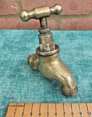 Reclaimed Vintage Solid Bronze / Brass Cold Water Tap Great Patina ~ Working (1)
