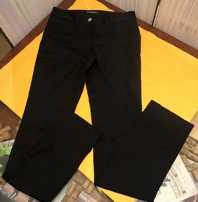 dolce and gabbana black dress pants womens size 38 made in italy