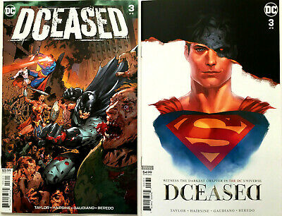 DCEASED #3 Cover A + Card Stock Horror ''The Nun'' Homage Variant (set of 2) NM