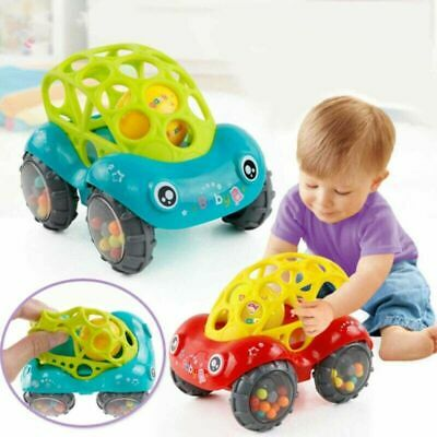 Baby Kids Child Toy Inertial Minibus Oball Ball Rattle Teething Roll Infant U3Y9