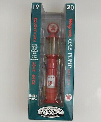 Gearbox 1920 Wayne Texaco Gas Pump Diecast Mechanical Coin Bank New in Box