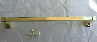 "15"" Polished Brass Wall Mounted Single Towel Rail Bar Rack Holder Hanger"