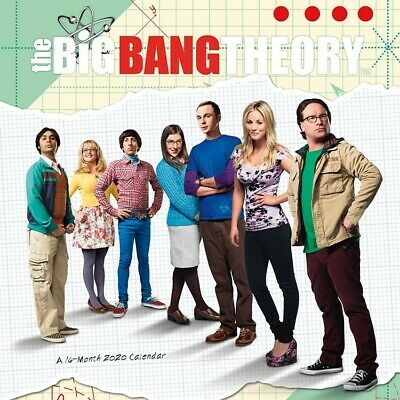 """DateWorks The Big Bang Theory 2020 Wall Calendar 16 Months 12""""X12"""" w"""