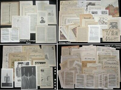 HUGE!Selection ORIGINAL PERIOD Paper Packs~50+pcs!Vtg Junk Journal Ephemera Lots