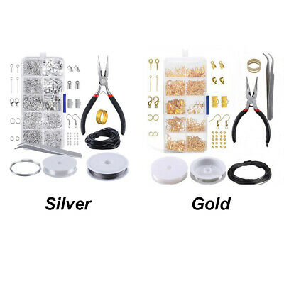 10 Grids Findings And Beading With Accessories Jewelry Making Kit Repair Tool