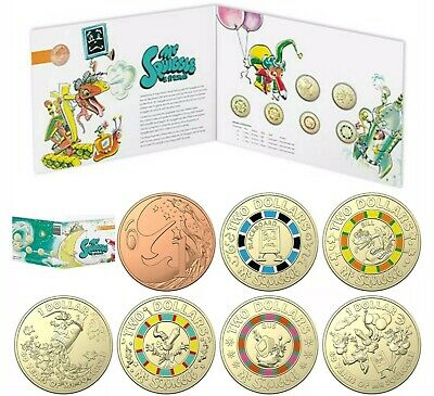 2019 Mr Squiggle & Friends uncirculated set of 7 coins in folder