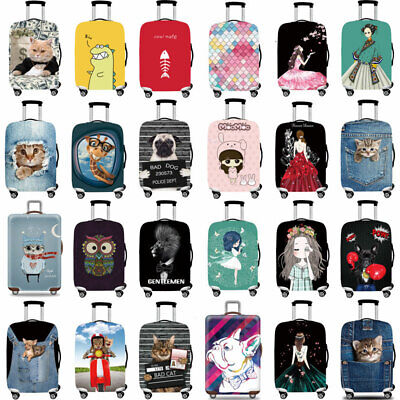 Elastic Cartoon Luggage Cover Protective Suitcase Skin Cover Anti Scratch 18-32""