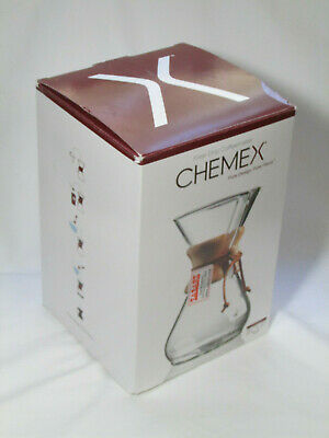 Chemex Classic Series CM-8A 8 Cup Pour Over Filter Glass Coffee Maker