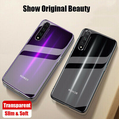 For Huawei Honor 9X Pro 8X 8A Ultra-thin Transparent Soft TPU Back Case Cover
