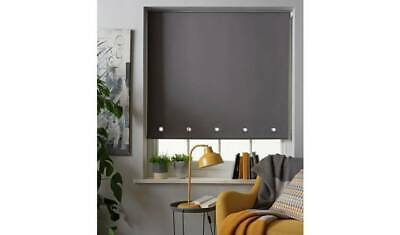 Home Eyelet Daylight Roller Blind - 3ft - Grey Dress Your Windows In Serious NEW