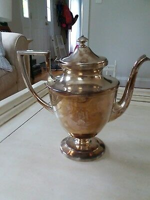 Antique Mermod Jaccard St. Louis Quadruple Silver Plated Tea Pot