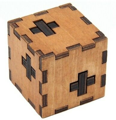 Wooden Brain Teaser Puzzles Box Puzzle Game Toy IQ Educational Puzzles #HID