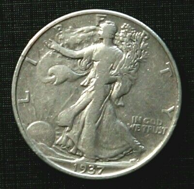 Silver 1937 UNITED STATES 1/2 Dollar Walking Liberty  (60J)