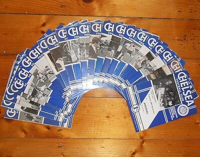 1967-68 CHELSEA FC HOME PROGRAMMES - Your Choice - FREE Postage