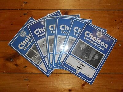 1962-63 CHELSEA FC HOME PROGRAMMES - Your Choice - FREE Postage