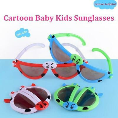 Creative Foldable Cute ladybug Sunglasses Goggles For Baby Kids Boys Girls