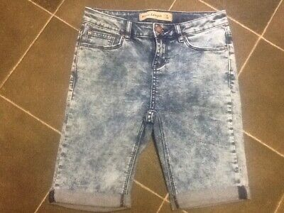 Ladies NEW LOOK Casual Stretch Denim Shorts , size 8 UK