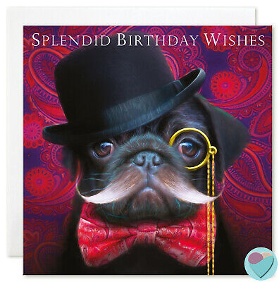 """Fox in Top Hat And Dickie Bow Men/'s /""""TO A DAPPER GENT/""""  Open Birthday Card"""